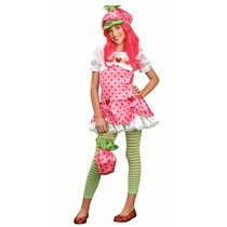Disfraz Strawberry Shortcake Talla X Grande Niña 0-2 Dama