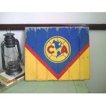 Anuncio Letrero Vintage America Futbol Retro Decorativo