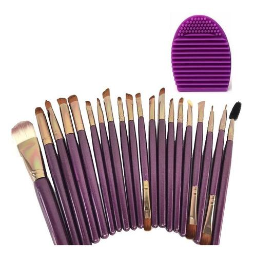 Set De Brochas Maquillaje Profesional De Ojos 20 Brochas