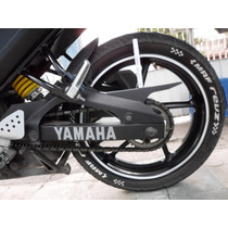Plumon Blanco Para Llantas Motocicleta O Carro Yamaha Fz16.