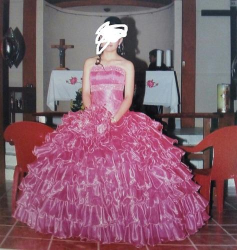 Vestido Xv Años Color Rosa Con Ramo Incluido En Venta En