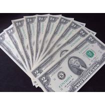 Billete Two 2 Dollar Lote De 10 Billetes Nuevos Consecutivos
