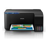 Impresora A Color Multifunción Epson Ecotank L606 Con Wifi 220v Negra
