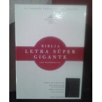 Biblia Holman Letra Gigante Negro/gris Imitación Piel Rv60