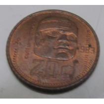 Moneda 20 Cts Mexico 1983 Cabeza Olmeca