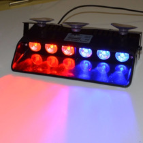 Tb Luces Policiacas Wowtou 16 Changing Modes Red And Blue