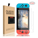 Pack De 2pzs Mica Cristal Templado Nintendo Switch 9h, 0.3mm