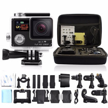 Camara Tipo Go Hero4 Wifi 12mp Doble Pantalla Estuche + Kit