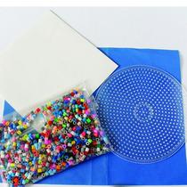 Kit Inicial Bolsa Con 1,000 Midi Beads,base Circular Y Papel