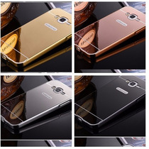 Funda Bumper-aluminio Espejo Samsung J5 & J7 + Mica Gratis