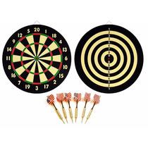 Lanza Dardos New Dart Board + 6 Brass Darts