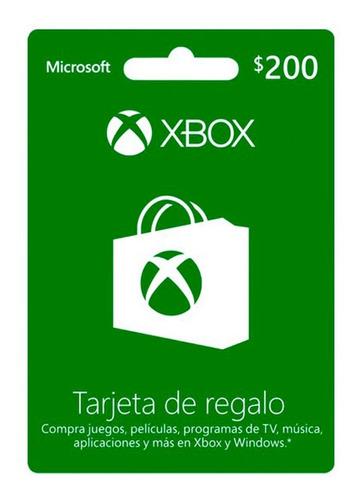 Tarjeta De Regalo Xbox 200