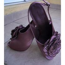 Zapatillas Menbur Violeta Con Plata Forma