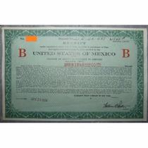 Bono - United States Mexico Bond Certificate, $1,848, 1924