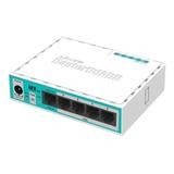 Router Mikrotik Hex Lite Rb750r2 Blanco/turquesa
