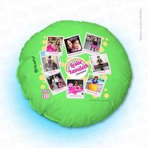 Cojín Personalizado Circular Impreso Con Tus Fotos Favoritas