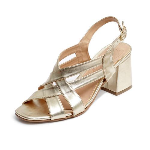Tacón Zapatillas Plataforma Sandalias Mujer Moda Oro 3800 b1e1e402f9ed