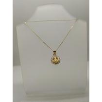 879121da2730 Medalla Circular Y Cadena Oro 10k Bautizo Envio Gratis en venta en ...
