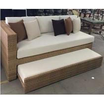 Sofa Cama De Rattan Para Jardin Y Exterior