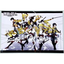 8 Posters Anime Attack On Titan 42x29 Cm