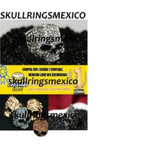 Anillo Calavera Calabera Antrax Plateado Skull Punk Vip
