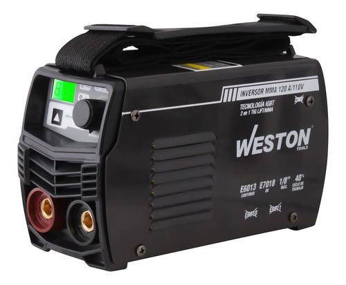 Soldadora Inversor Mma 120 Amp Mini 110v C Estuche Weston