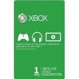 Membresia Xbox Live 1 Mes Gold, Envio Inmediato!
