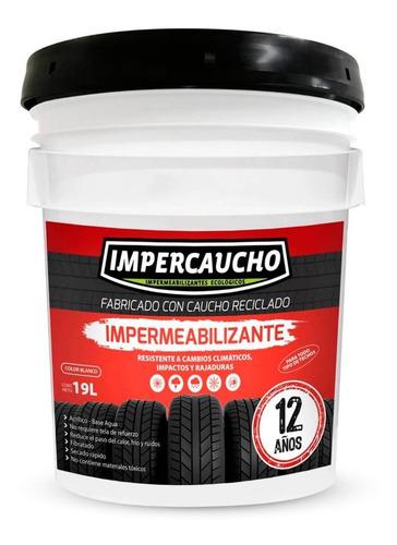 Impermeabilizante Impercaucho Cubeta Para Techo 12 Años 19lt