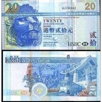 Hong Kong 20 Dólares 2003 Unc