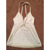 Increible Blusa Hollister Talla S Color Crema