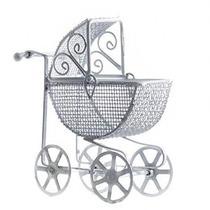 Parlor-esque Miniatura Blanco Antiguo Carro De Bebé Para Bab