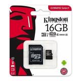 Memoria Micro Sd 16gb Kingston Clase 10 Original Mayoreo