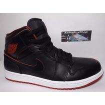 Jordan 1 Mid Black Gym Red (numero 6 Mex) Astroboyshop