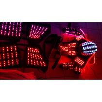 Traje Iluminado Robot Led Zancos Y Laser Con Descuento!!!