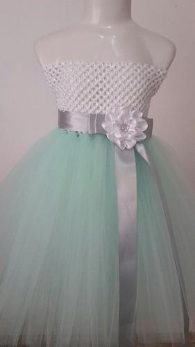 6dea416614 Vestido Tutu Tul Para Niña Talla 2 A 6. Personaliza en venta en ...