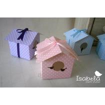 Paquete Cajitas Cajas Cartón Mesa Dulces Bautizo Casita