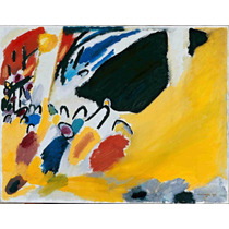 Lienzo Tela Impresión Wassily Kandinsky 1920 Arte Abstracto