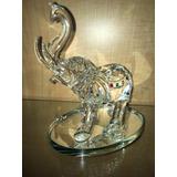 Elefante Cristal Vidrio 14 Cm