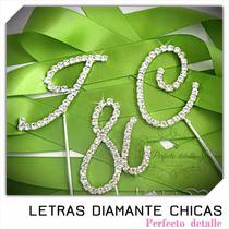 Iniciales Chicas Letras Diamante Para Decoracion De Pastel
