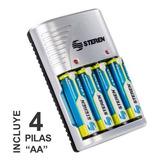 Cargador De Bateria  Aa- Aaa/9v, C/4 Pilas Aa Steren Crg-020