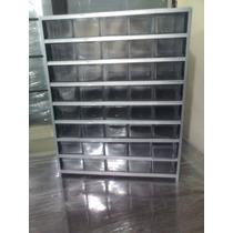 Anaquel Metalico Con 40 Cajas.