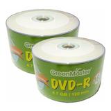 50 Dvd Imprimible Green Master 4.7 Gb 16x Facturado Full