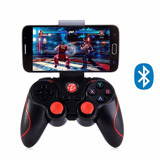 Control Bluetooth Gamepad Smartphone Con Soporte Universal