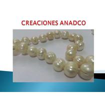 Elegante Collar De 56 Autenticas Perlas Cultivadas Importado
