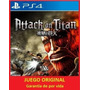 Attack On Titan Ps4 Juga Desde Tu Usuario Entrego Ya