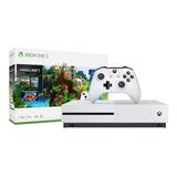 Microsoft Xbox One S 1tb Minecraft Bundle Blanco