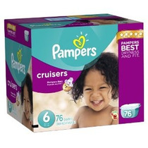 Pampers Cruisers Pañales Tamaño 6 Pack Gigante 76 Contador