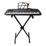 Teclado Musical 54 Teclas Y Soporte Metalico Kaiser Kit-5470