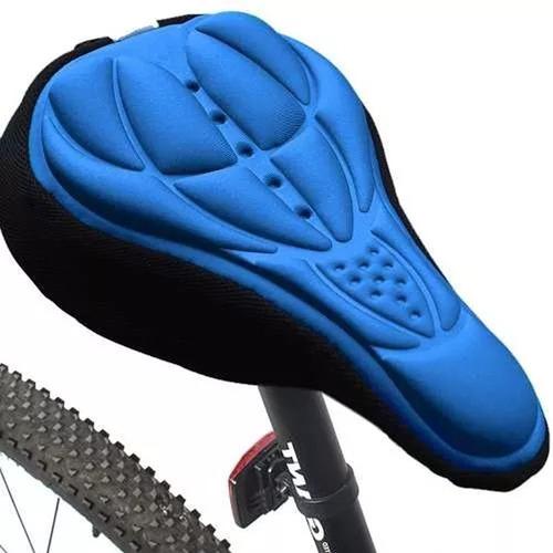 Asiento Cubre Asientos Bicicleta Silicon Neopreno Azul D1050