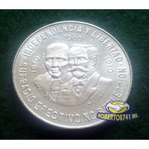 Moneda De Plata 10 Pesos Caritas Independencia Y Liberta